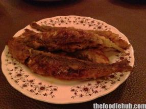 Cardinia fried sardines with lemon
