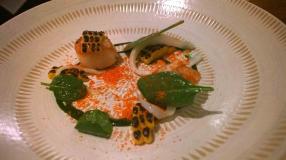 Scallops, Squid & Spinach (2)