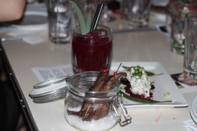 Bloody Oath Sonny cocktail with Eucalyptus rubbed Roo and potato salad (2)