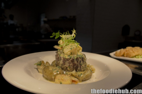 Grilled wagyu sirloin with rosemary potatoes