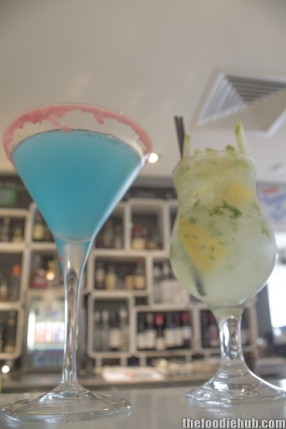 Lemon blueberry martini apple cider mojito