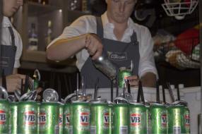 Iconic Australian Rum and beer reduction, Aperol, Amaro