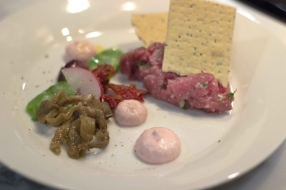 Beef Tartare with Red Radish Mayonnaise