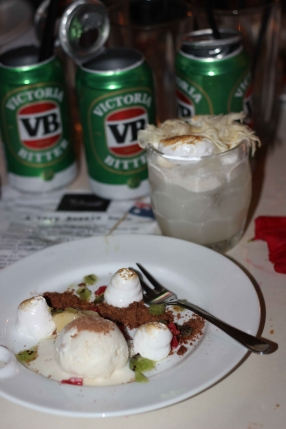 Deconcstructed Aussie Favourtite with matching cocktail