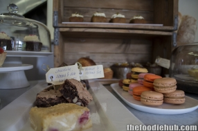 chocolate-almond-date-torte-gf-and-macarons