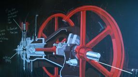 Engine Room Espresso Wall Art
