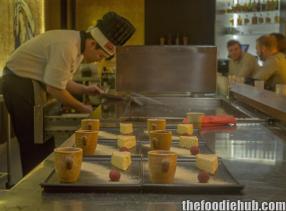 Preparing desserts
