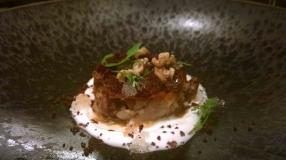 Roast Lamb Shoulder, Olives, Walnuts, Mint & Goats Curd (2)