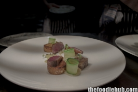 Dry aged duck breast, white turnip WA kiflers
