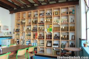 Gordon St. Garage produce shelf