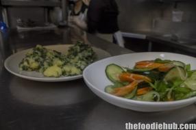 Salata od krastavaca cucumber salad with blitva crushed potato and silverbeet