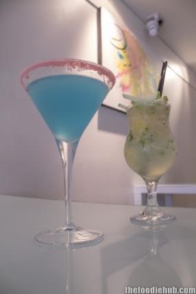 Lemon blueberry martini