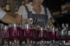 Starward Australian whisky, beetroot, Italian Vermouth pink salt