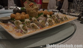 Baked oysters with foie gras sauce