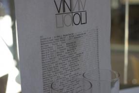 Vin & Oli Freo Wine Menu