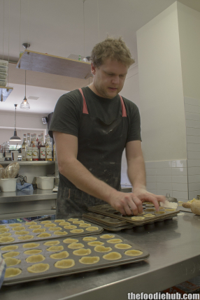 Ollie rolling the pastry